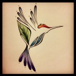 Hummingbird Tatto Design