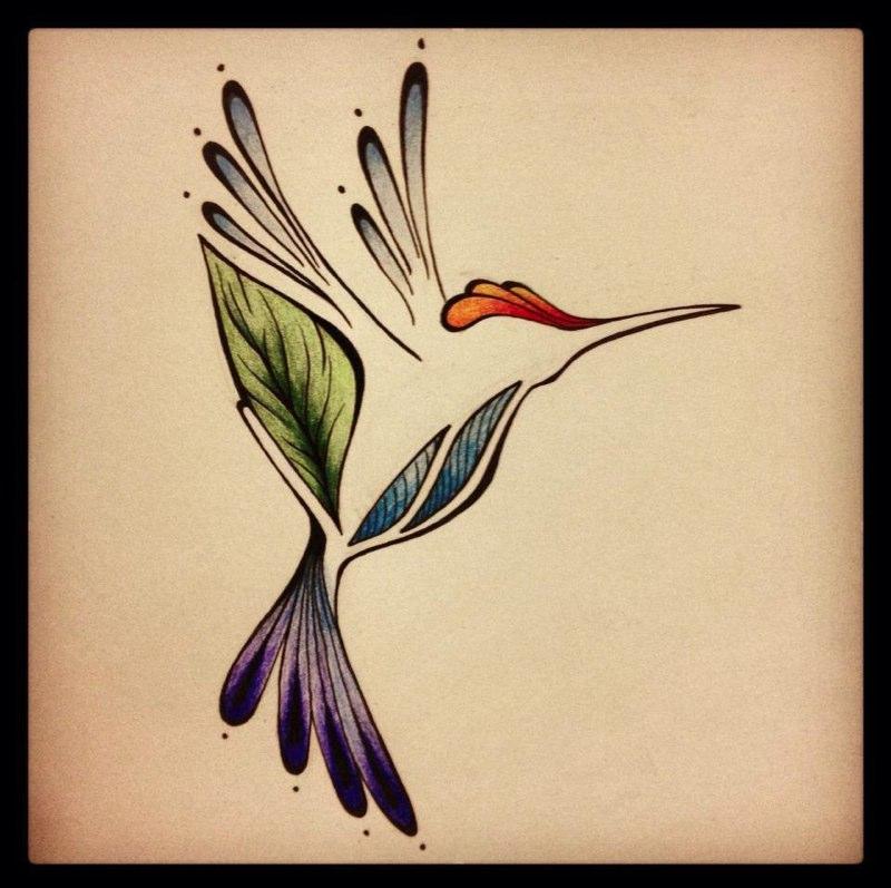 Hummingbird Tatto Design